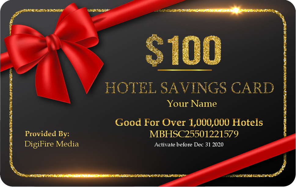 Hotel Sacing Card 100